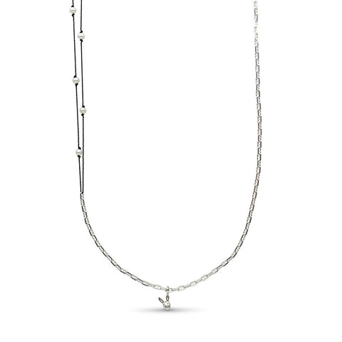 35-inch Pearl Station and Chain Necklace