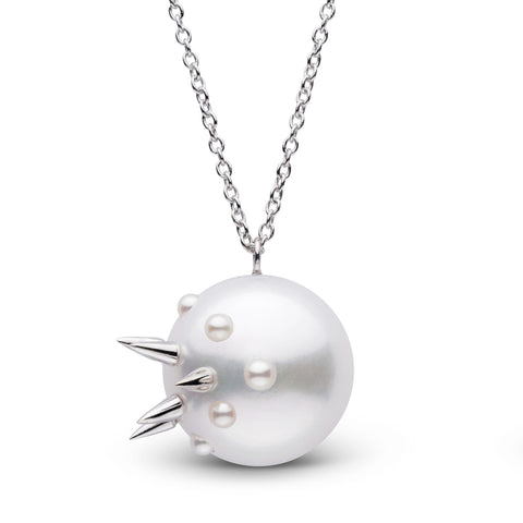 Stiletto Spike Pearl Pendant in Sterling Silver