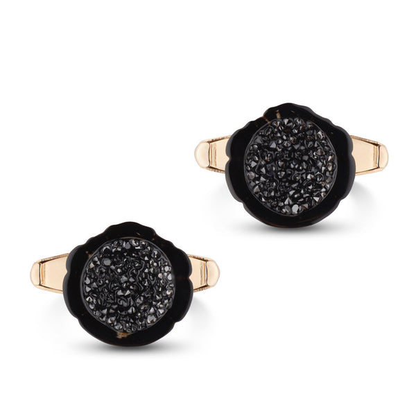 Tahitian Pearl & Diamond Cufflinks in Yellow Gold