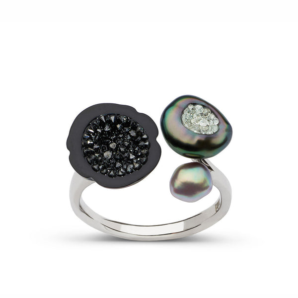 Tahitian Three Pearl Ring
