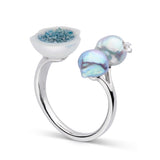 Blue Trio Ring