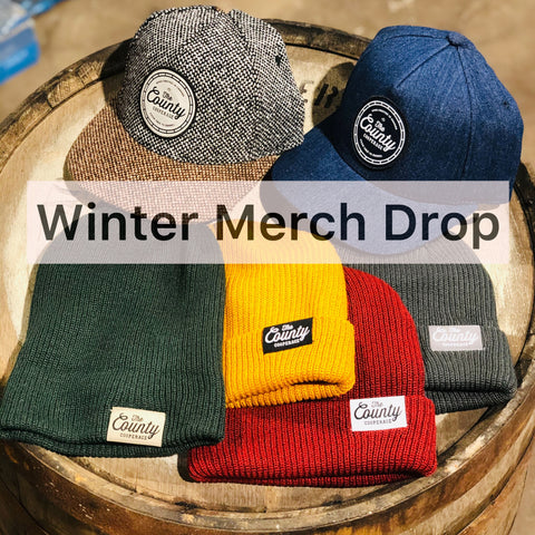 winter merch drop the county cooperage