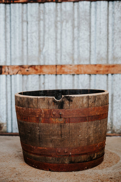 Canadian Whisky Barrel Planter