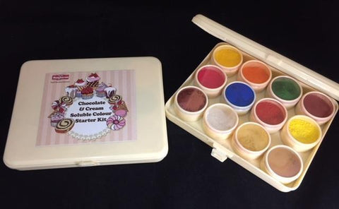 Chocolate & Cream Soluble Colour Starter Kit