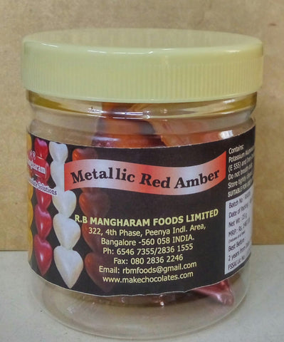 Metallic Red Amber - 25gms