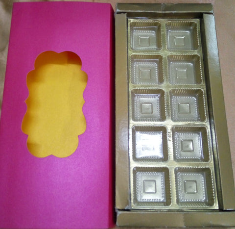 Presentation Box Small Pink  colour ( Set of 25 )