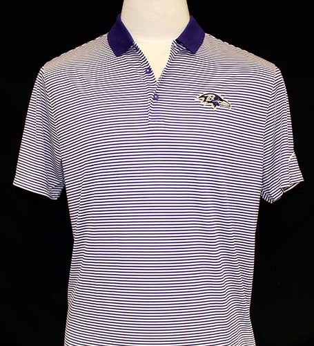Nike Ravens Victory Mini Stripe Polo - Men's White/Purple