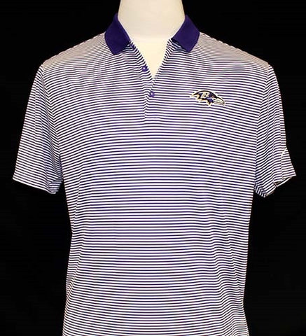 Nike Men's Victory Mini Stripe Polo - Ravens