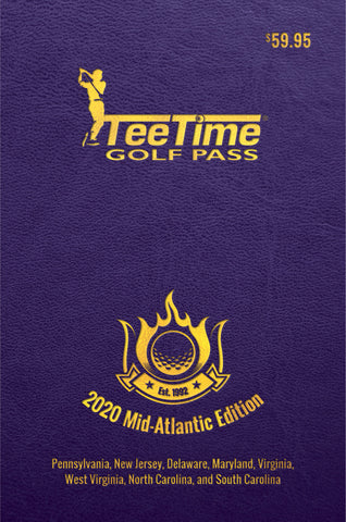 2020 Tee Time Golf Pass - Mid-Atlantic Edition