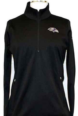 Nike Women's Thermal Half-Zip - Ravens