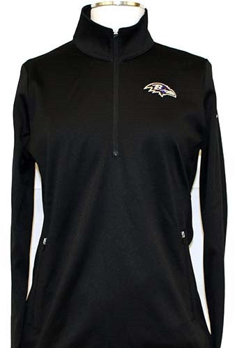 Nike Ravens Thermal Half-Zip - Women's Black