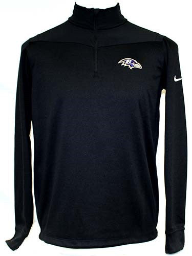 Nike Ravens Dri-Fit Half Zip L/S  - Men's Black