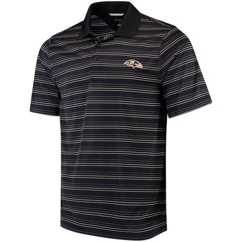 Cutter & Buck Men's Resolve Stripe Polo - Ravens
