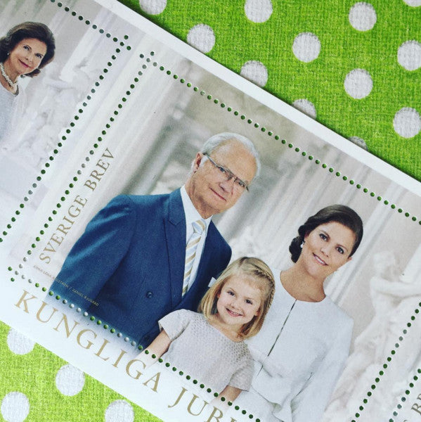 Cute stamps of the Royal house of Sweden