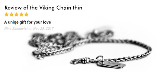 Five star review of the Viking chain thin