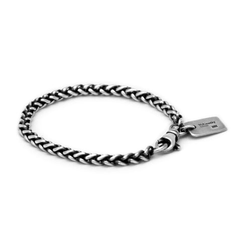 Viking chain bracelet 925 sterling silver made in Sweden.