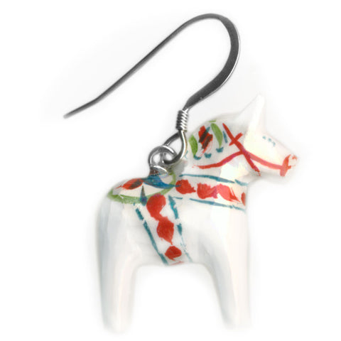 Dalecarlian horse earrings 0,8 inch