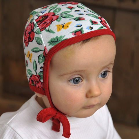 Baby bonnet from Sweden. Traditional Swedish clothes for kids.