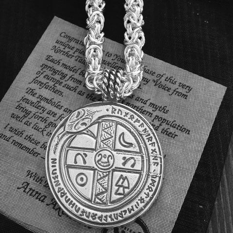 Handmade chain in 925 sterling silver from Sweden. Steneby for him inspired by vikings.