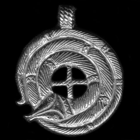 Pendant Midgard Serpent Loke made in 925 sterling silver
