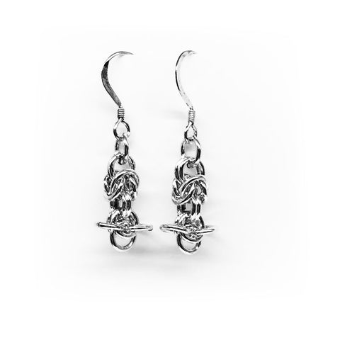 Handmade earrings in 925 sterling silver from Sweden. Jewelry for her.