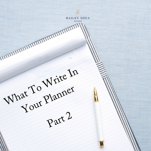 what to write in your day planner