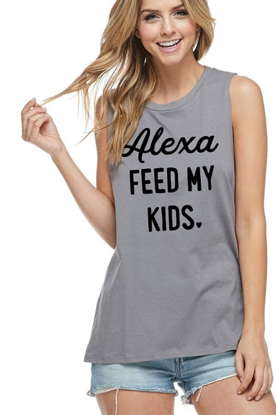 Alexa feed my kids Tank