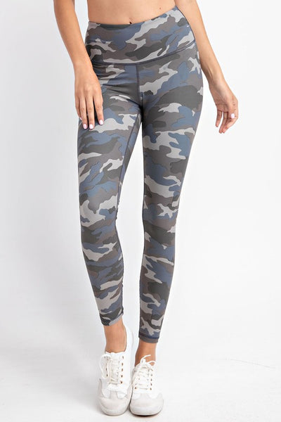 Grey Blue Camo Leggings
