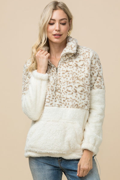 Fleece Leopard Pullover