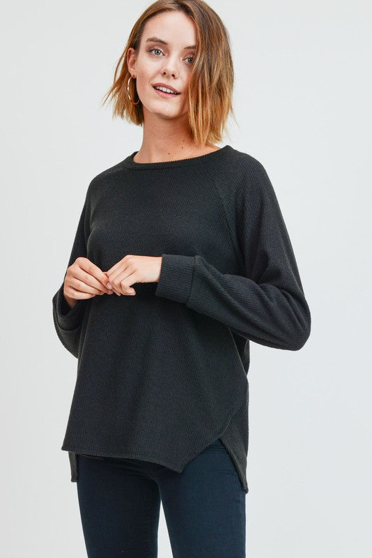Black Ribbed Top