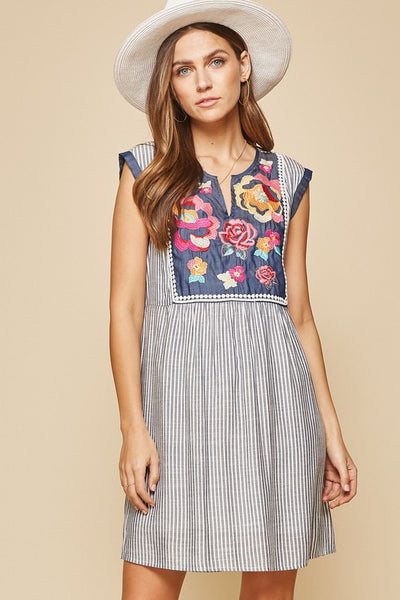Denim Floral Days Dress