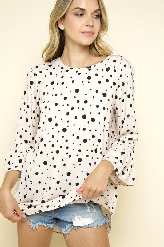 Cream Spotty Tunic