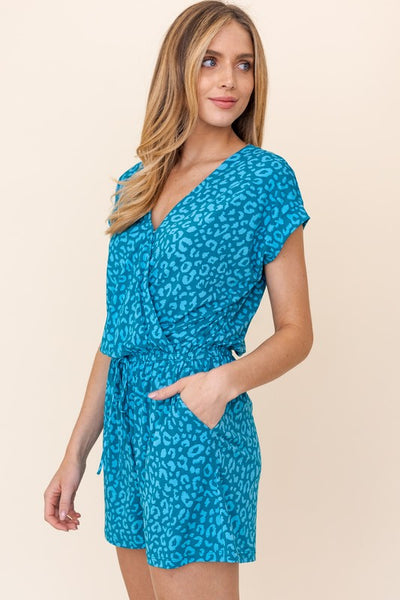Teal Animal Romper