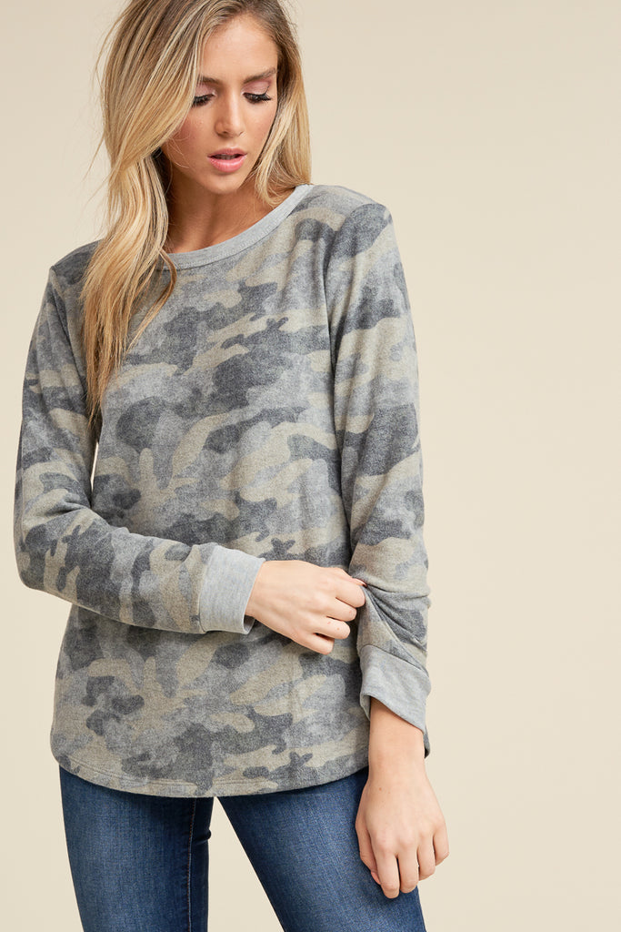 Camo Brushed Top