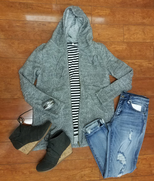 The Grey Tashi Sweater