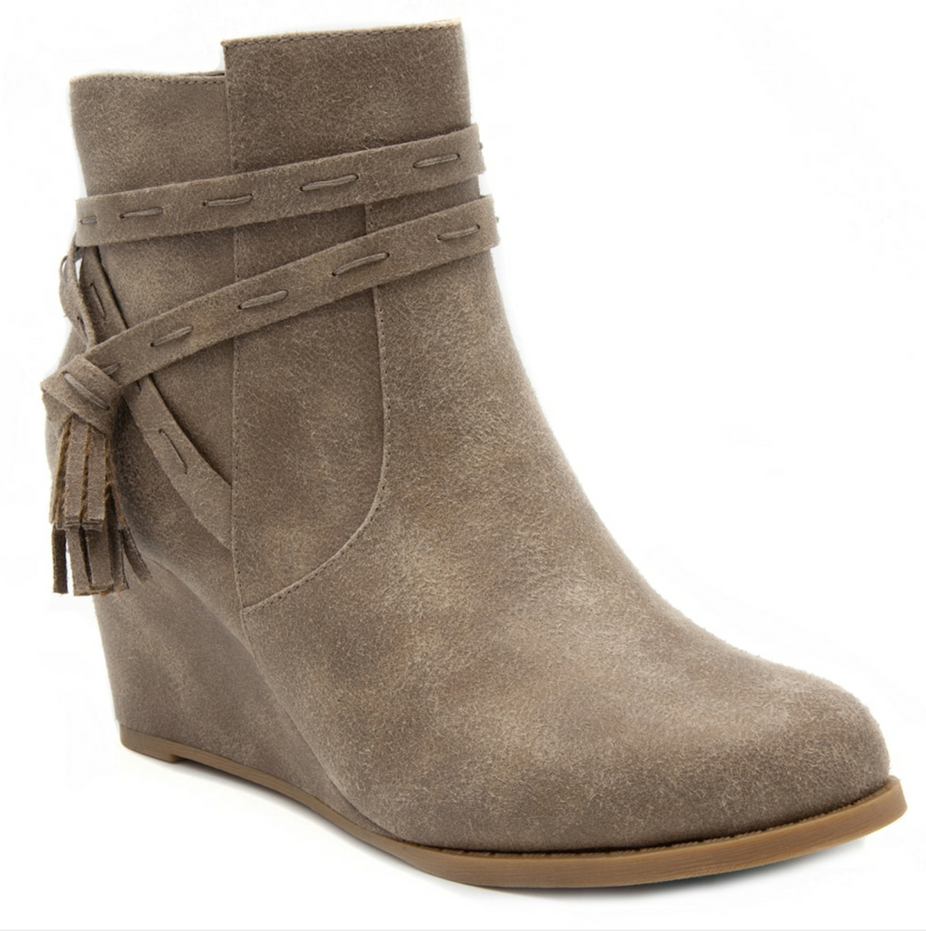 The Taupe Ram Bootie