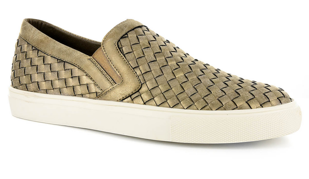 Brushed Gold Slip-On Sneaker