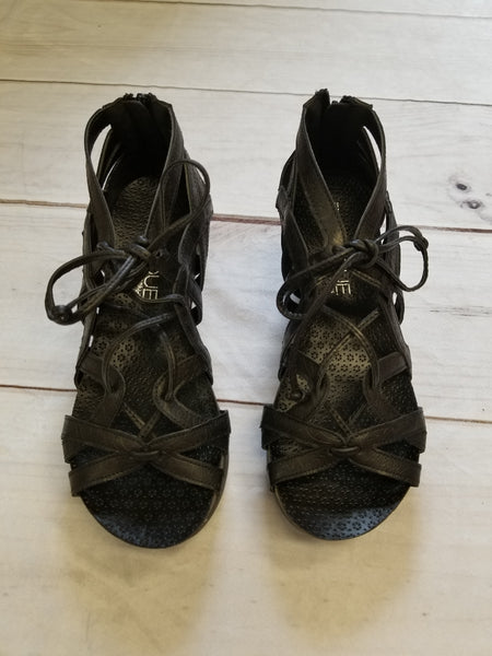 Black Lace Sandal