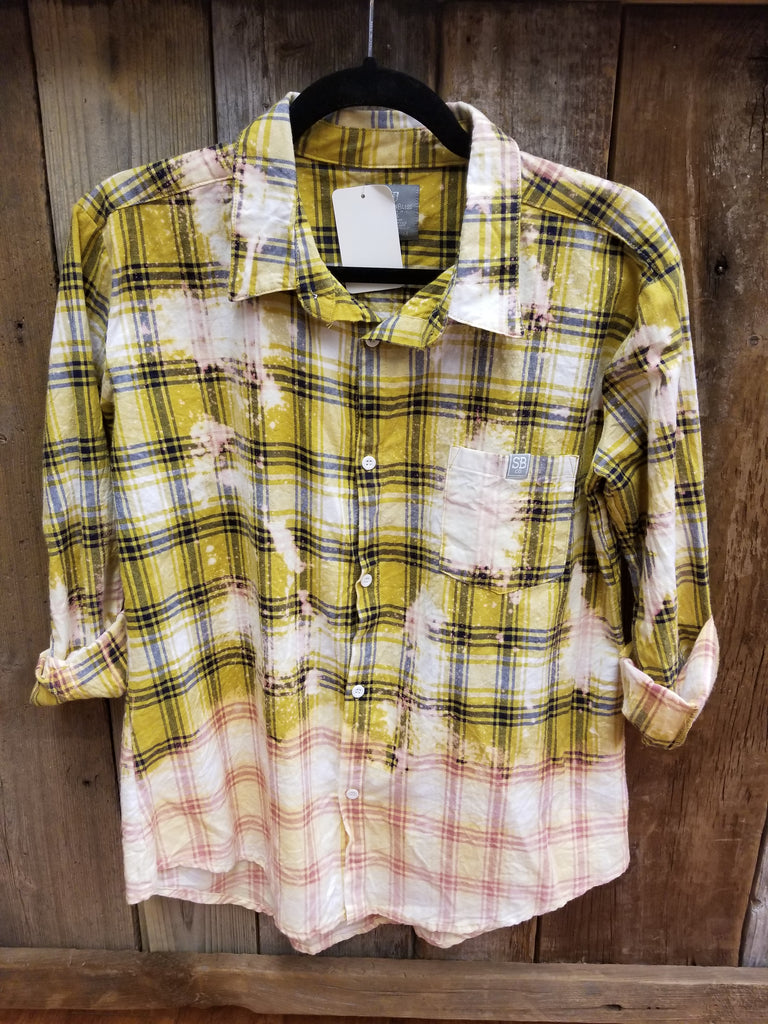 Bleached Mustard Plaid