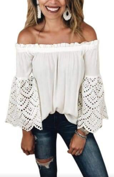 Pre-Order Eyelet Off Shoulder Top