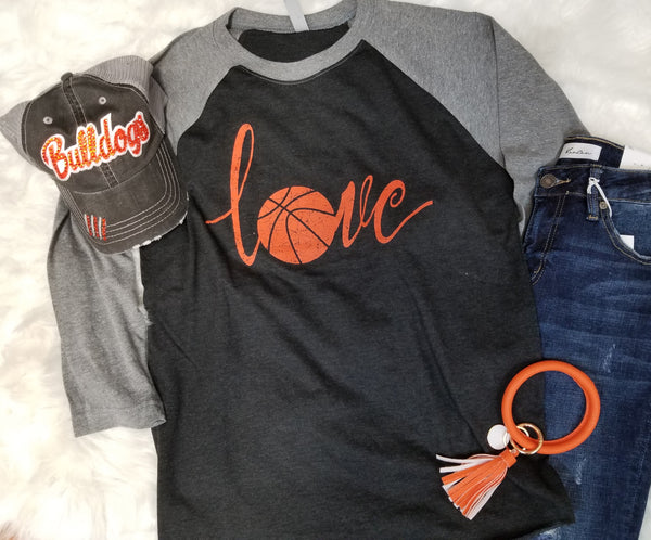 Basketball Love Raglan