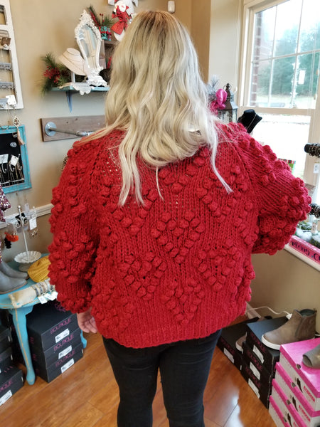 Heart Cable Knit Swaater