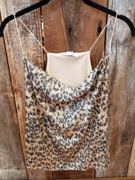 Animal Sequin Cami