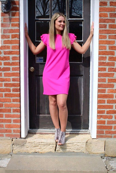 Fuchsia Ruffle Dress