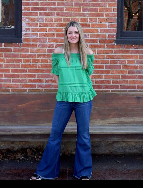 Kelly Green Off Shoulder