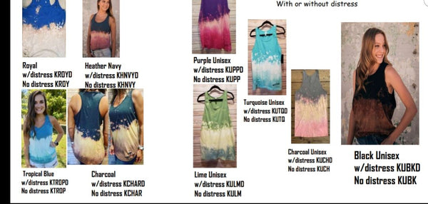 Junior Fit Tie-Dye Tank