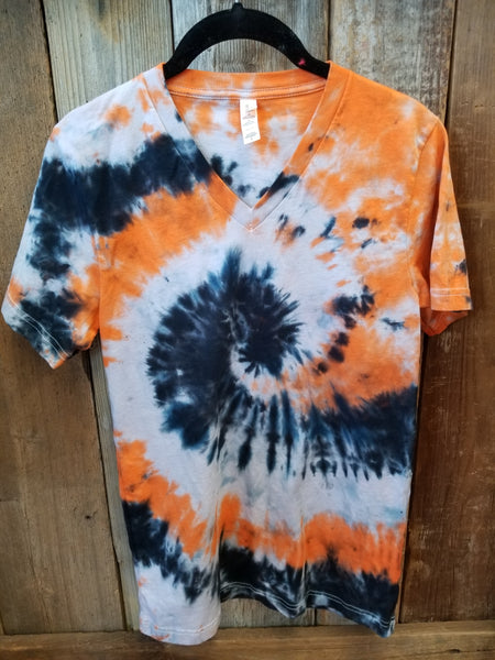 Orange & Black Tie-Dye