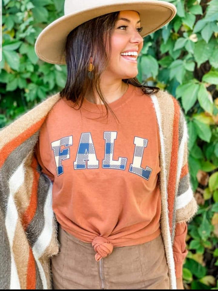 Fall Plaid Tee