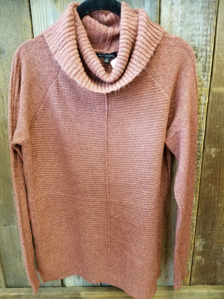 Rust Slouchy Cowl Neck