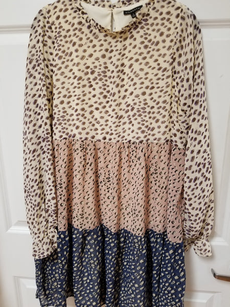 Cream Dots Tier Dress